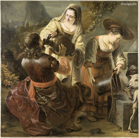 Ferdinand Bol (1616-1680), Rebecca and Eliezer at the Well, ca. 1645-46, Oil on canvas, Paris, musée du Louvre